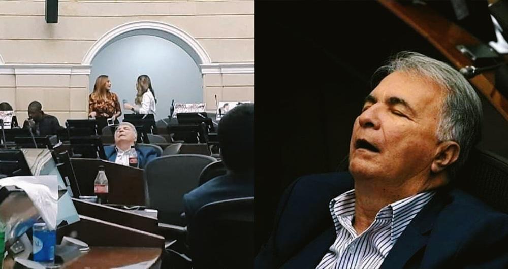 Sorprenden a senador Huilense durmiendo en plena sesión del Congreso – Soy  Campesino